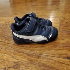 Puma sneakers blue and white- toddler size 5